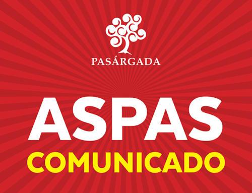 Comunicado Aspas 23.04.2019